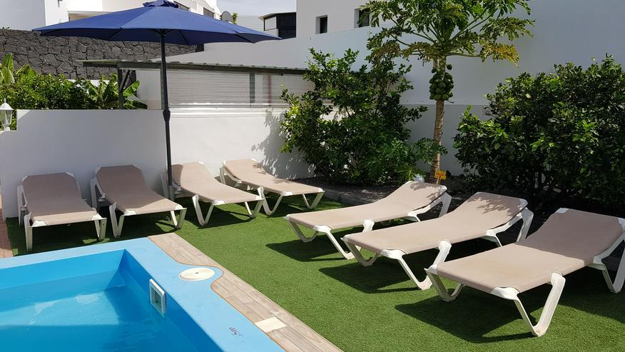 Bild 4: Urlaub Überwintern Langzeit Kanarischen Insel Lanzarote in Spanien Pool Ferienwohnung