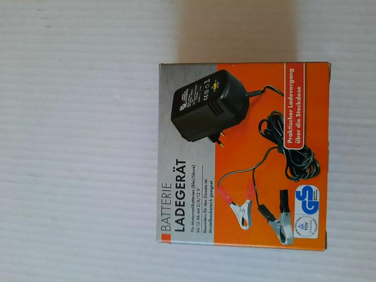 Batterie Ladegerät für Motorrad-Batterien (Blei/Säure) bis 12 Ah