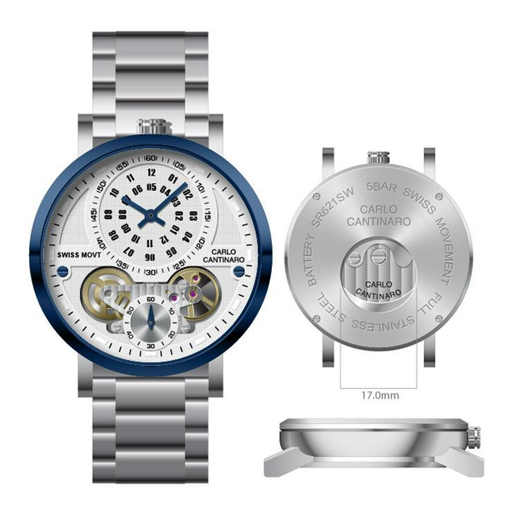 Carlo Cantinaro CC1004GB002 Herrenuhr Quartzmatic GMT - Herren Armbanduhren - Bild 1