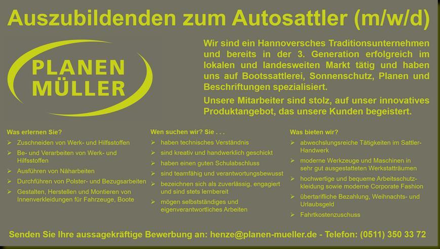 Berufsausbildung: Auszubildenden zum Autosattler (m/w/d) – sofort