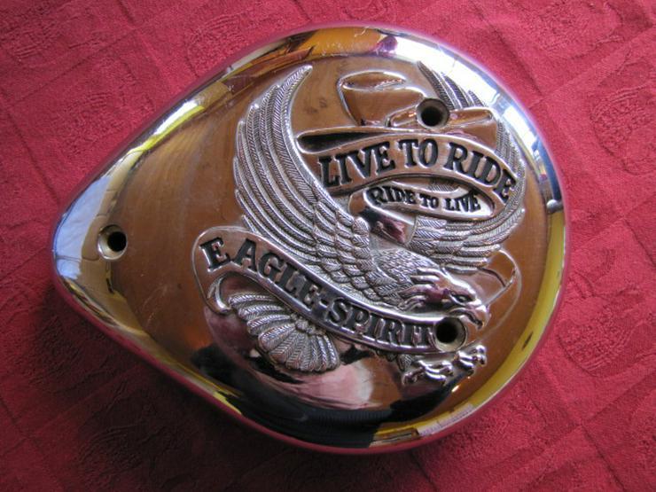 "Harley-Davidson Cover Deckel Teardrop Luftfilter ""Live to Ride"""