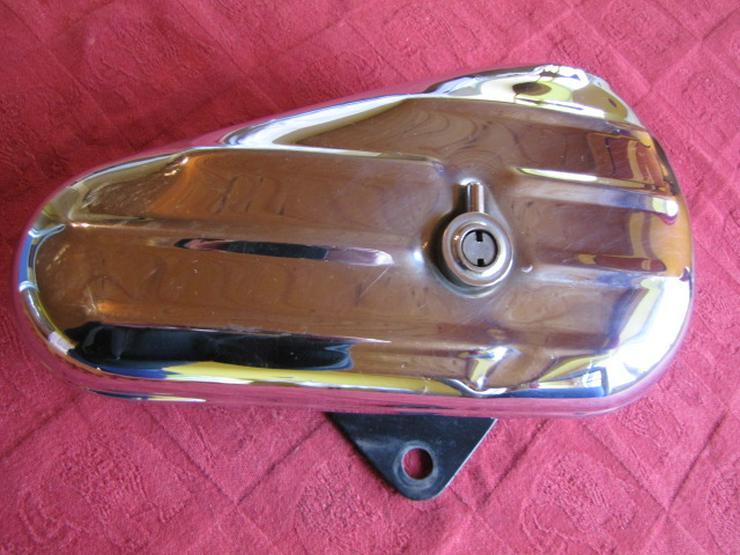 Harley-Davidson Vintage Tool-Box Werkzeugbox Chrom mit Halterung
