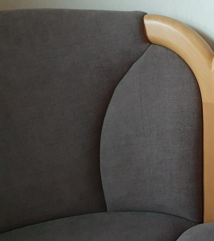 Bild 6: Eckbank + Tisch + 2 Stühle, Echtholz, sehr wertig + modern