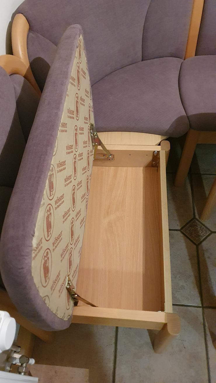 Bild 5: Eckbank + Tisch + 2 Stühle, Echtholz, sehr wertig + modern