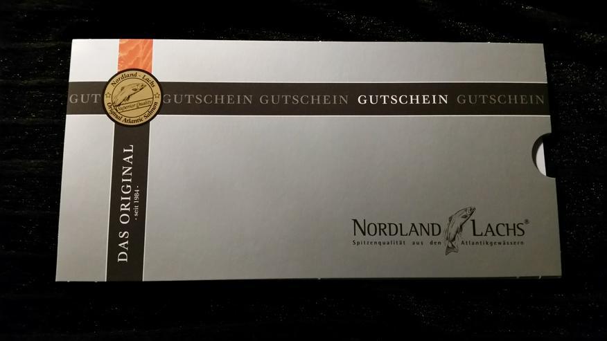 Gutschein Nordland Lachs, Präsent Royal, ca. 250 g feinster Lachs, Filet-Royal