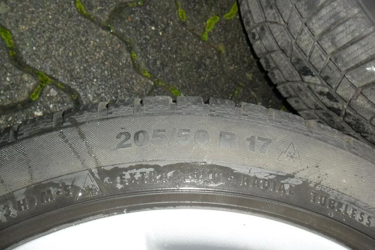 Bild 4: Conti Wintercontact Reifen auf Alufelgen!