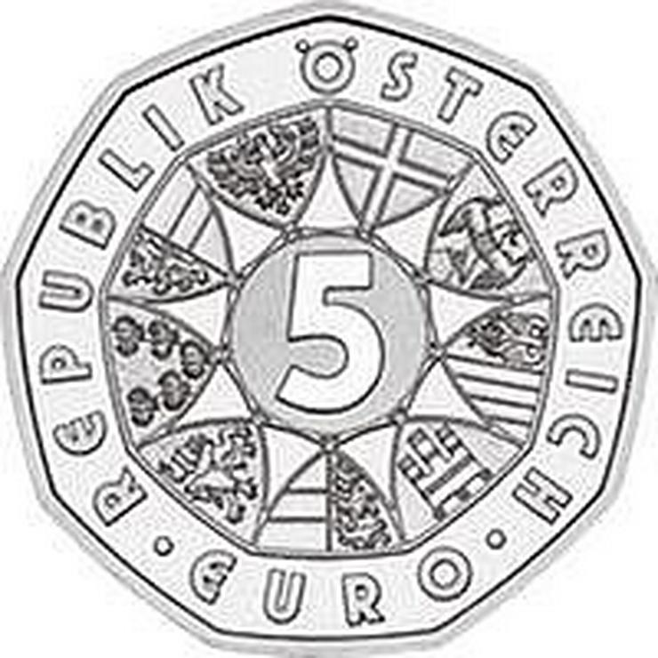 """Bild 2:  5 € Silber-Münze, 2002, Österreich, prägefrisch, """"250 Jahre Tiergarten Schönbrunn"""""""