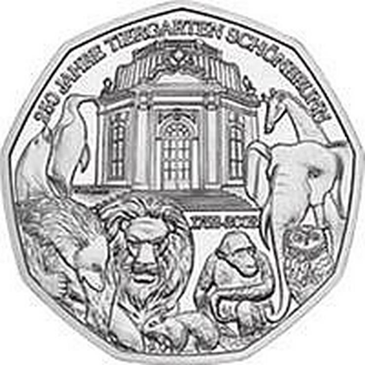 """5 € Silber-Münze, 2002, Österreich, prägefrisch, """"250 Jahre Tiergarten Schönbrunn"""""""