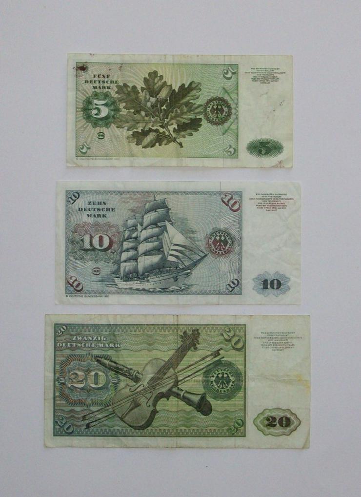 Bild 2: DM-Geldscheine 5-10-20