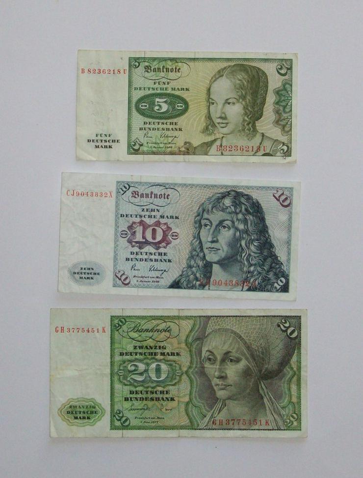 DM-Geldscheine 5-10-20