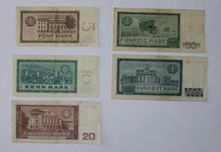 Bild 2: Sammlung Geldscheine Notenbak DDR 1964, komplett, 5-10-20-50-100