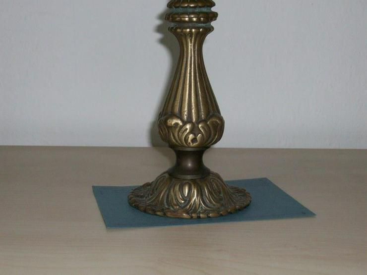 Bild 2: Messing Kerzenständer, alter Herkunft mit leicht Patina, Altmessing original