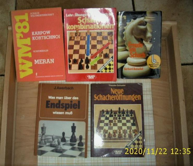 5 Schach-Bücher, besondere und sehr guter Zustand