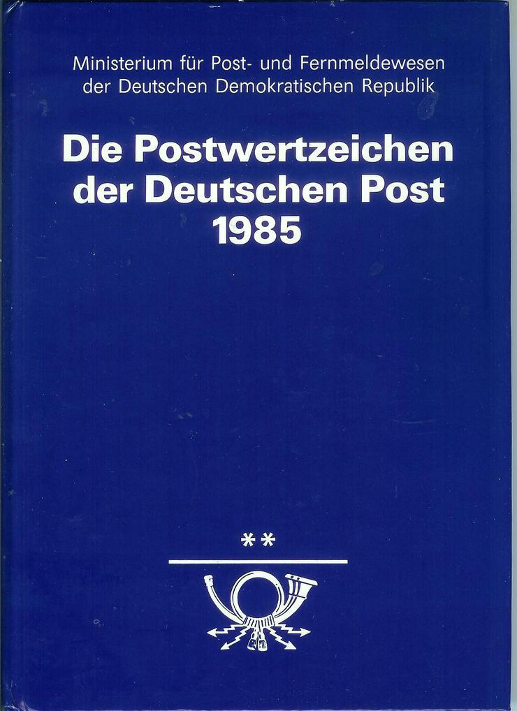 Jahrbuch Postwertzeichen der Deutschen Post 1985 komplett mit postfrischen Marken