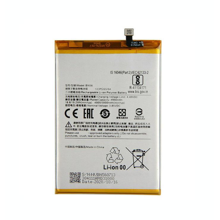 Akku für Xiaomi Redmi 9A 9C POCO M2 Pro, 4900mAh/18.8WH 3.85V/4.4V BN56 Batterien