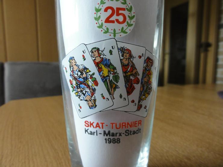 Bild 2: Jubiläums-Bierglas Skat-Turnier Karl-Marx-Stadt 1988