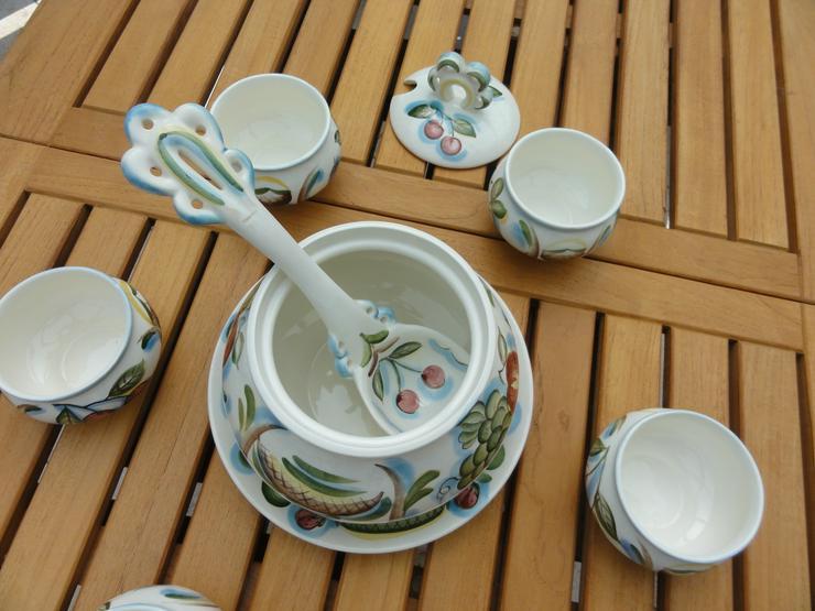 Bild 6: Bowle-Set 10-teilig, rustical aus Keramik