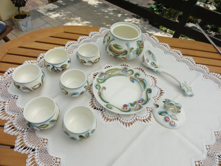 Bild 4: Bowle-Set 10-teilig, rustical aus Keramik