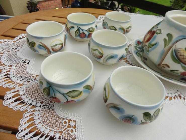 Bild 3: Bowle-Set 10-teilig, rustical aus Keramik