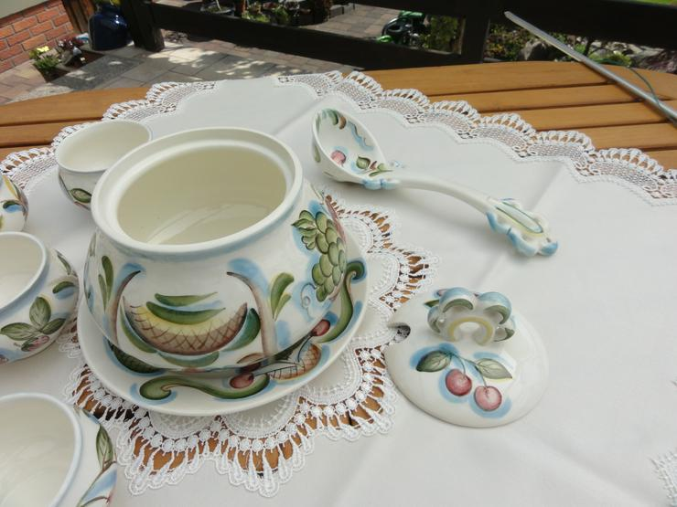 Bild 2: Bowle-Set 10-teilig, rustical aus Keramik