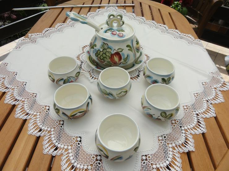 Bowle-Set 10-teilig, rustical aus Keramik