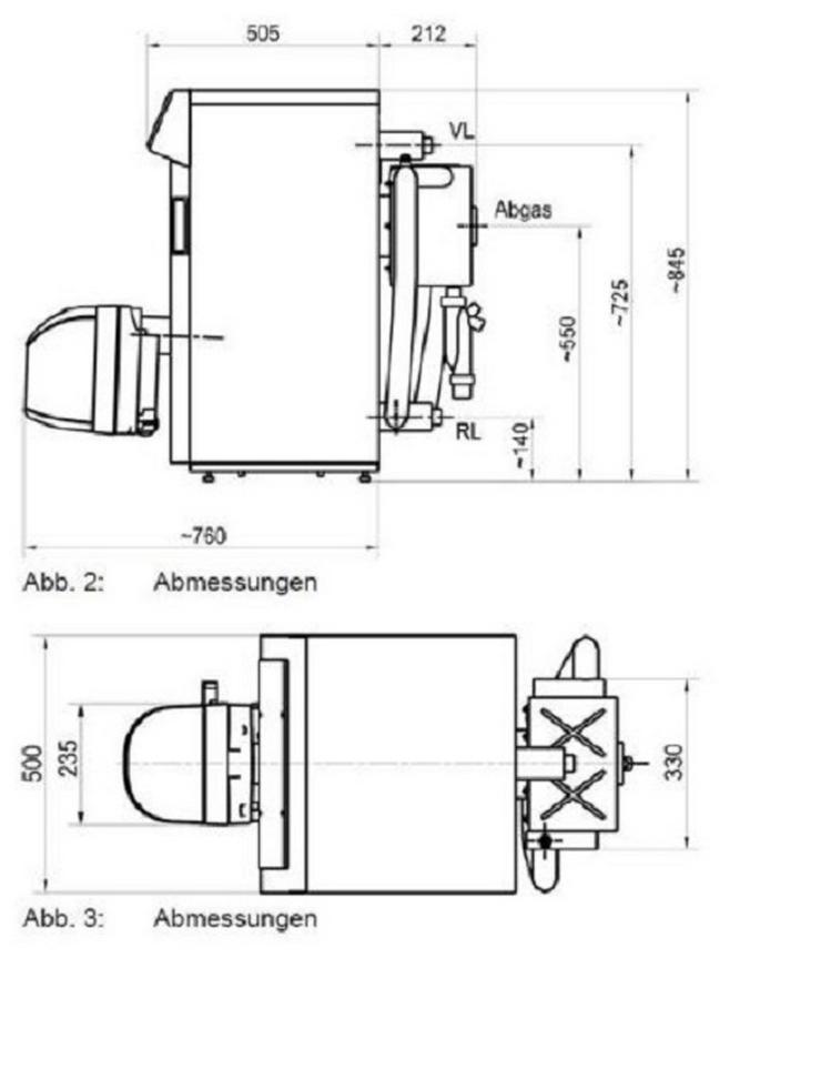 Bild 3: 1A Ratioline BW Ölbrennwert Kessel 12 - 25 kW Intercal Heizung. EEK: A