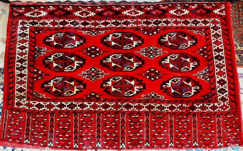 Orientteppich Jomud Tschowal Sammlerteppich antik (T005)