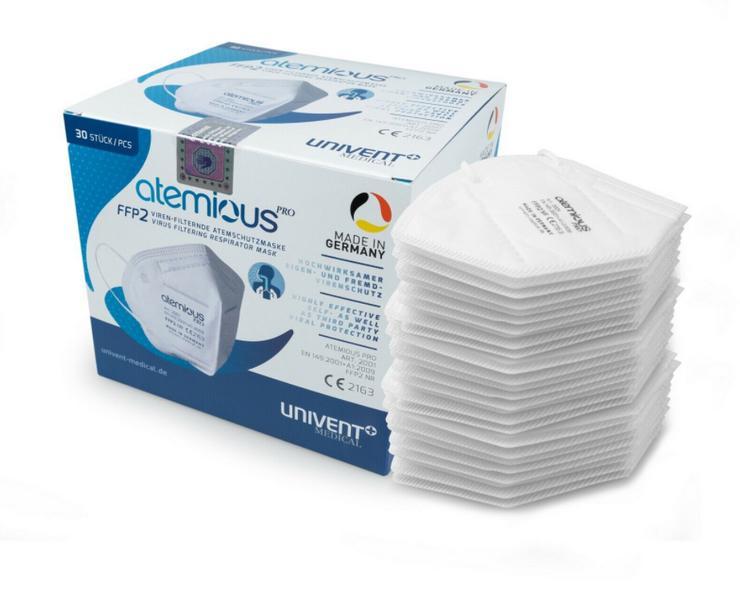 atemious FFP2 Atemschutz - Maske Mundschutz CE zertifiziert, deutsche Herstellung!
