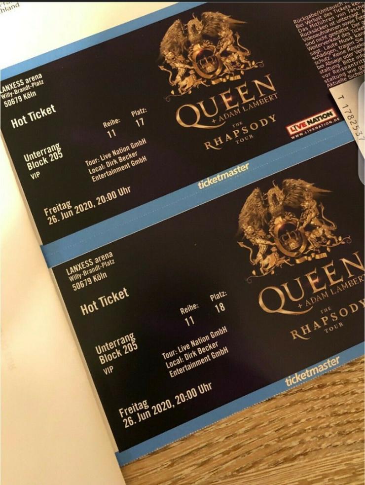 2 VIP Queen Adam Lambert Konzertkarten