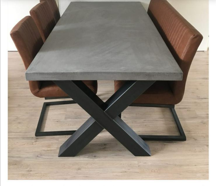 Tischkufen X Rohstahl 80-80 mm 2 Stück 74-80 cm Tischbeine - Esstische - Bild 1