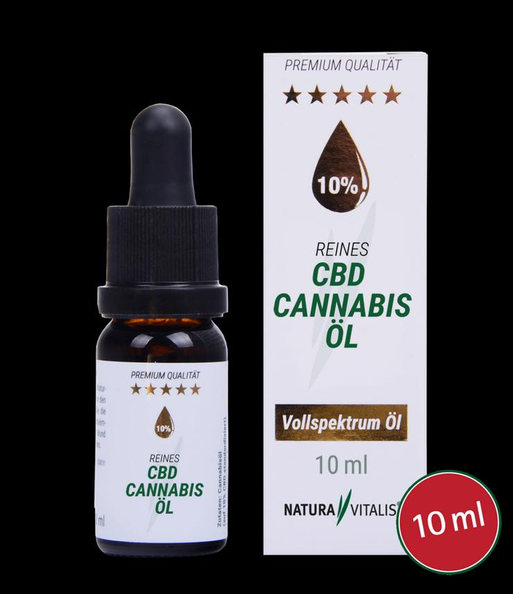 Reines CBD Cannabis-Öl 10% gegen Schmerzen