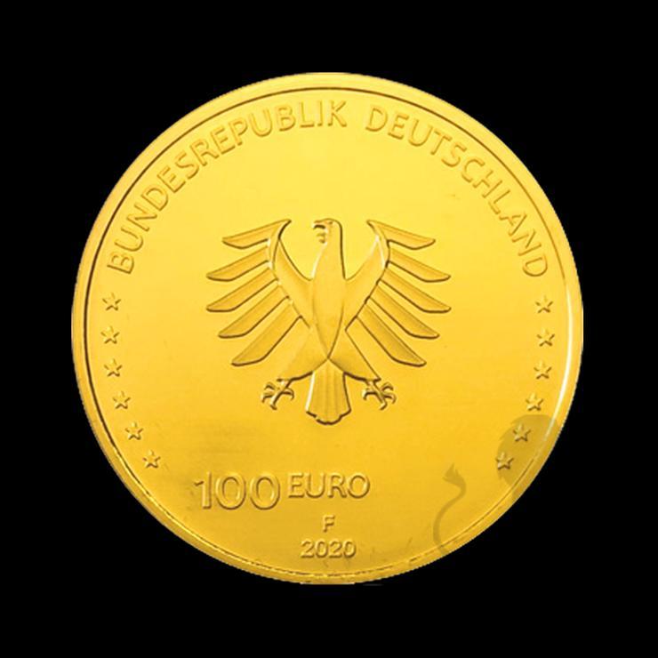 """Bild 4: BRD GOLDEURO  """"Säulen der Demokratie"""" 5 x 100 EURO EINIGKEIT 2020 SATZ"""