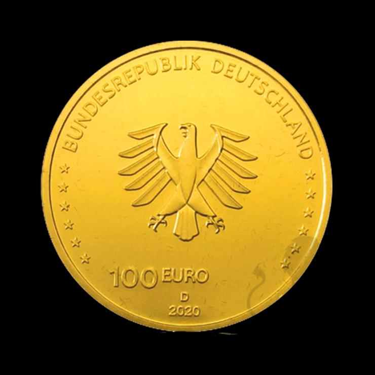 """Bild 3: BRD GOLDEURO  """"Säulen der Demokratie"""" 5 x 100 EURO EINIGKEIT 2020 SATZ"""
