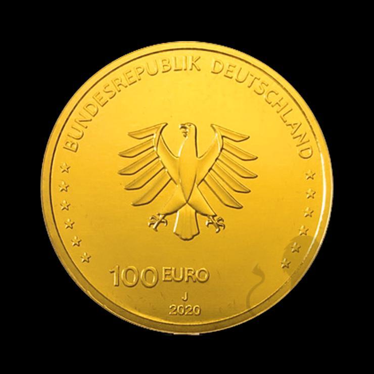 """Bild 6: BRD GOLDEURO  """"Säulen der Demokratie"""" 5 x 100 EURO EINIGKEIT 2020 SATZ"""