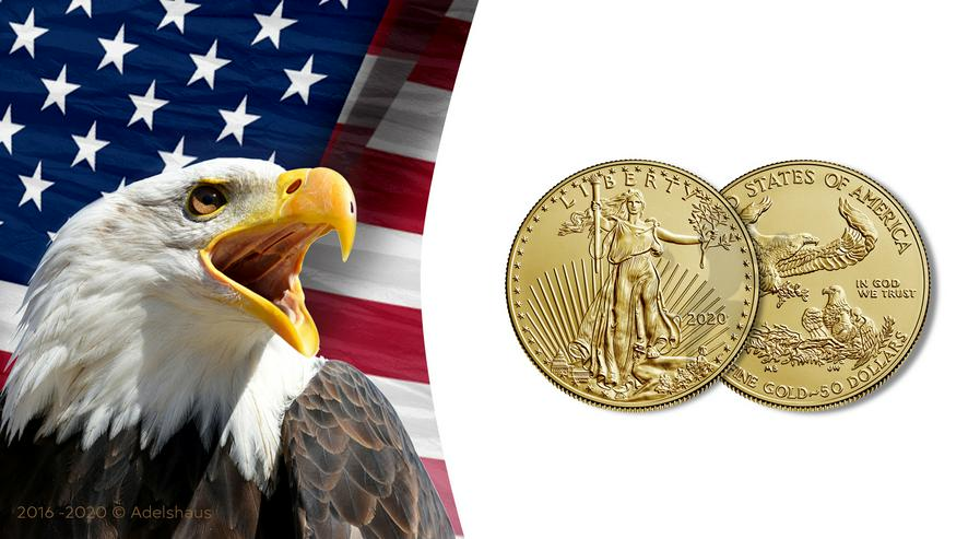 50$ American Eagle 2020 1 Unze Gold