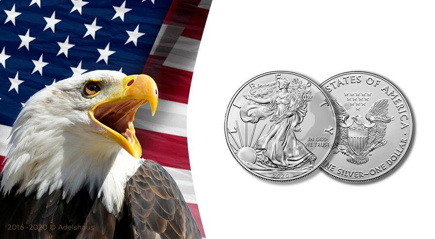 1$ American Eagle 2020 Silber 1 Unze - Weitere - Bild 1