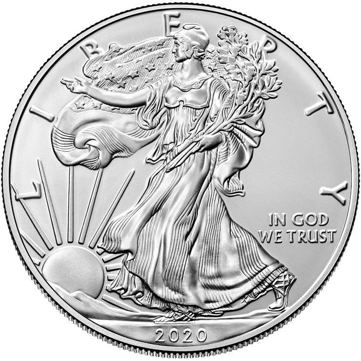 Bild 2: 1$ American Eagle 2020 Silber 1 Unze