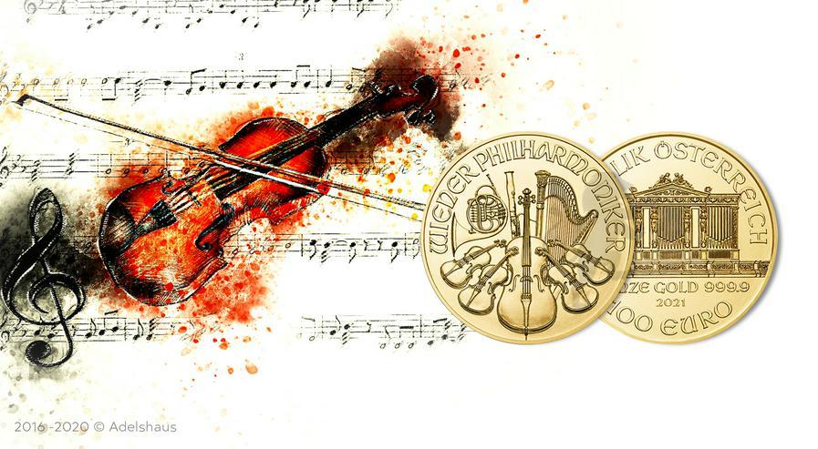 100 Euro Wiener Philharmoniker 2021 Gold 1 Unze