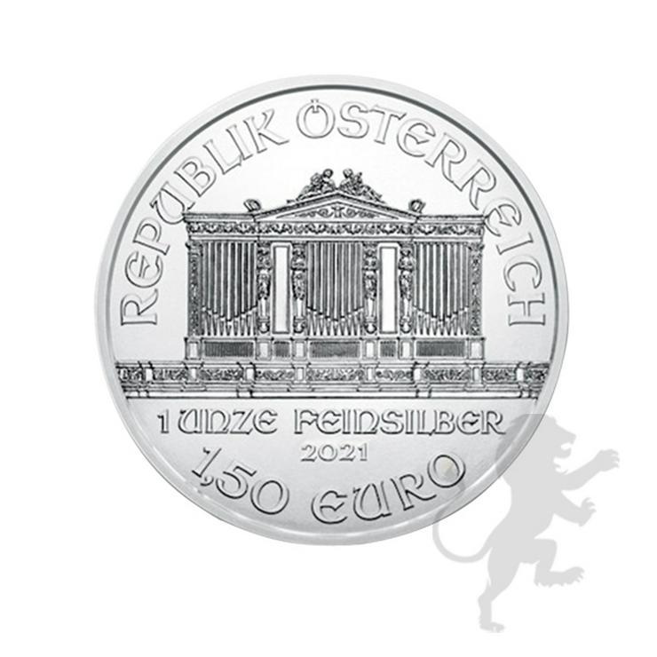 Bild 2: 1,5 Euro Wiener Philharmoniker 2021 Silber 1 Unze