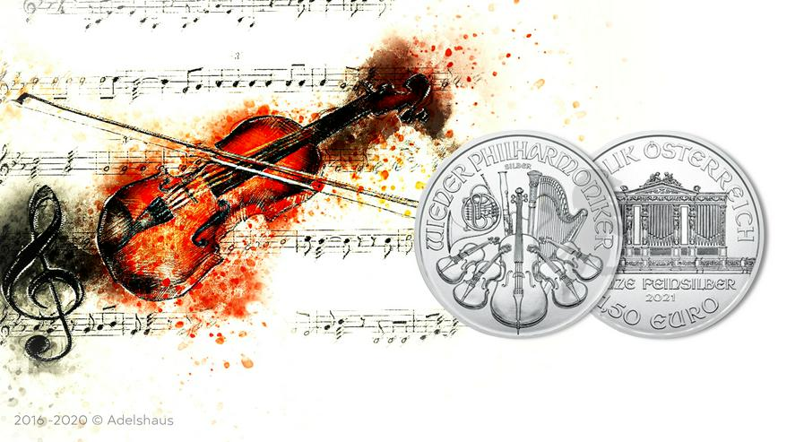 1,5 Euro Wiener Philharmoniker 2021 Silber 1 Unze - Euros - Bild 1