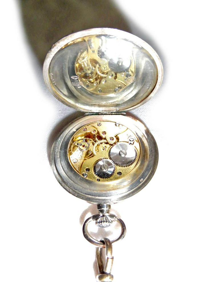 Bild 4: Schöne Taschenuhr aus 800er Silber
