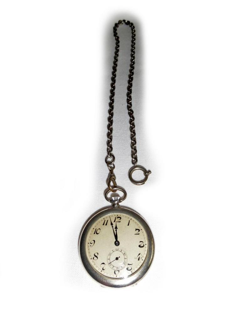 Schöne Taschenuhr aus 800er Silber - Taschenuhren - Bild 1