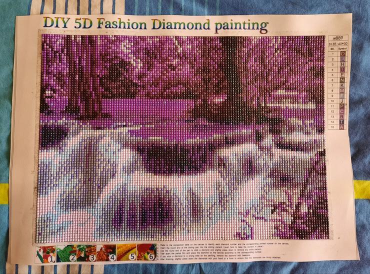 Bild 2: Fertiges Diamond painting Bild