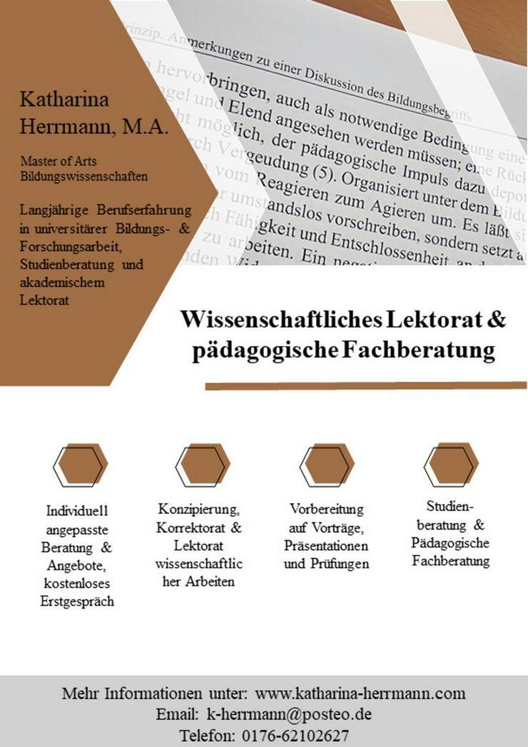 Wissenschaftliches Korrektorat und Lektorat & pädagogische Fachberatung