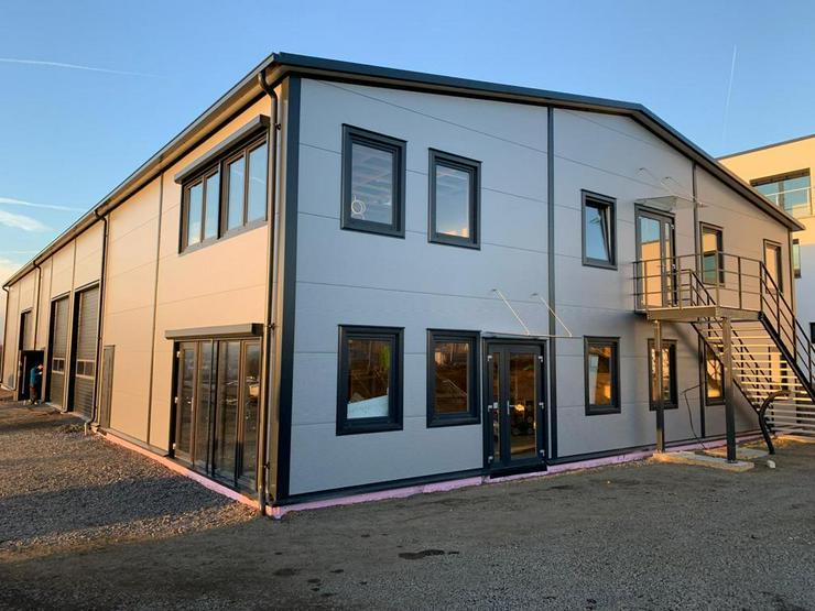 Stahlhalle Werkstatthalle Gewerbehalle Mehrzweckhalle mit Beuro-, Wohnbereich