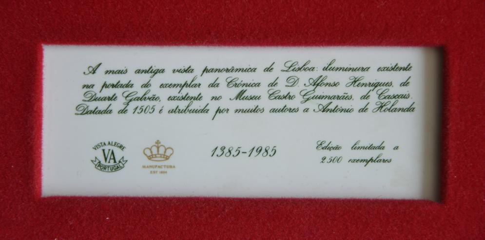 Bild 3: Limitierte Auflage 2x Portugiesische Wandkachel von Vista Alegre. aus 1985