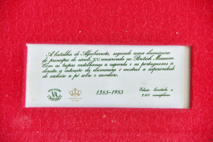 Bild 4: Limitierte Auflage 2x Portugiesische Wandkachel von Vista Alegre. aus 1985