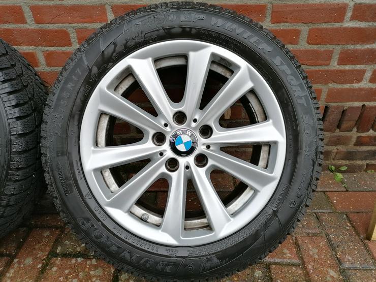 Winterreifen auf original BMW 5er Felgen 17 Zoll.