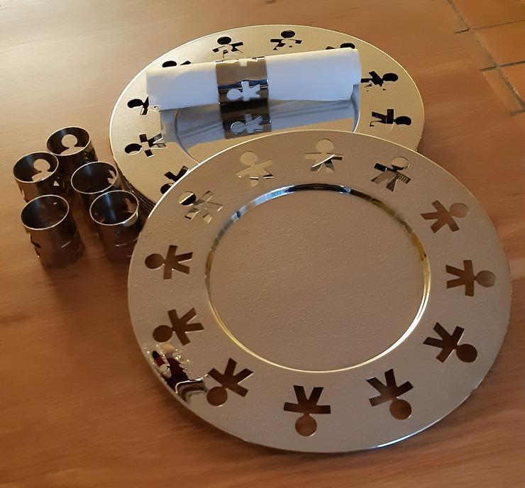 Alessi Platzteller und Alessi Servietteringe - Teller - Bild 1