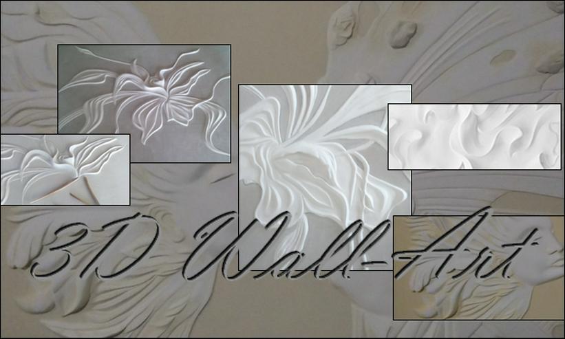 Bild 3: 3D Wandart, moderne Wandekoration, Gips bild